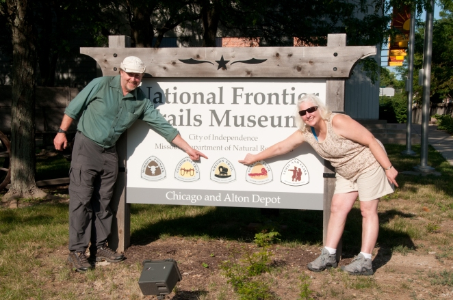 Bart and Bridgie at the National Frontier Trails Museum in Independence MO.