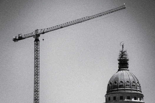 Capital of Kansas under renovation, Topeka.