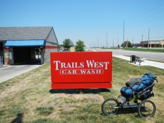 Car Wash along the Frontier Trail route through present day Gardner KS.