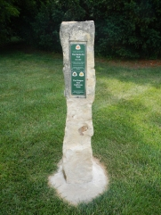 The Frontier Trail route out of Independence Missouri is well posted often with limestone posts.
