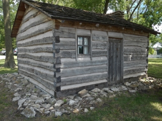 Aunt Sophie's Cabin, reportedly the home of a slave to the Rice family home nearby along the Oregon Trail outside of Independence, Mo.