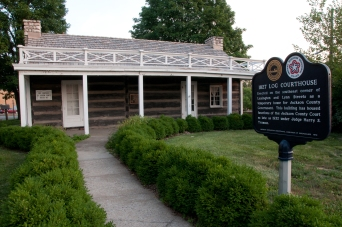 1827 Log Courthouse near downtown Independence Missouri.