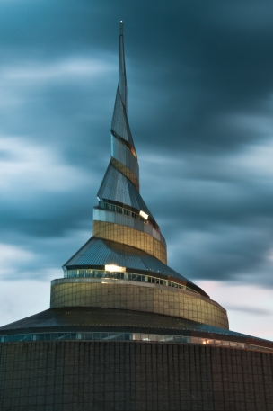 Spire atop The Community of Christ Temple near downtown Independence Missouri.