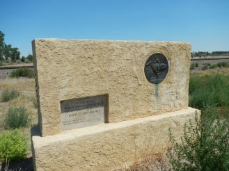 Monument to Ficklin Springs Pony Express Station