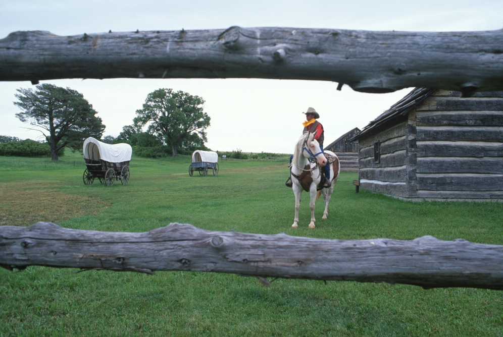 Pony Express rerider at Rock Creek Station (2006)