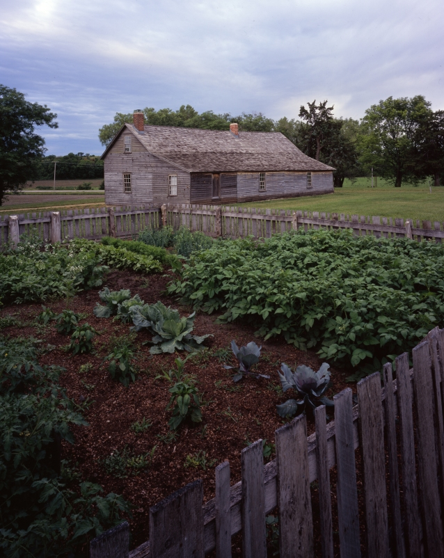 Garden behind Hollenberg Pony Express Station, Kansas.