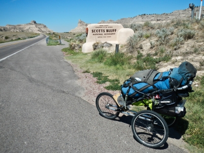 Entering Scotts Bluff National Monument along my 2012 Orgeon Trail journey.