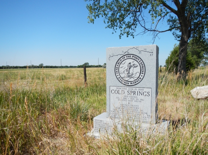 Site of Cold Springs Pony Express Station southwest of North Platte Nebraska.