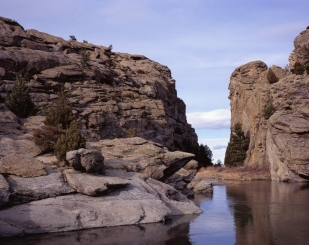 Devils Gate, an important landmark along the Oregon Trail.