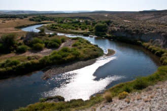 Sweetwater River near the seventh crossing along the Oregon Trail heading up to the Rocky Mountains and South Pass. Wyoming