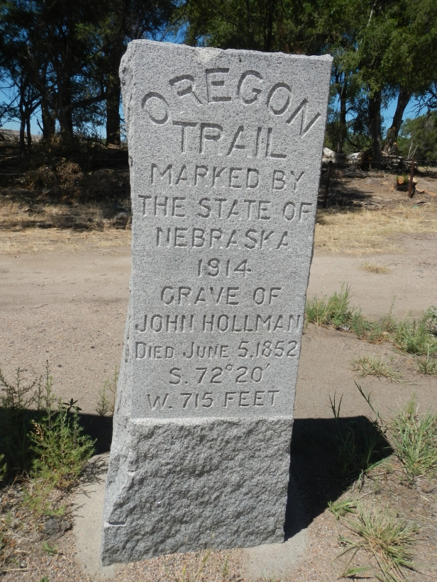 Site of John Hollman Grave along the Oregon Trail near Oshkosh Nebraska. He likley died of Cholera in 1852.