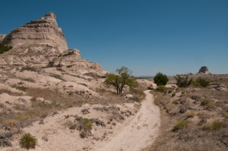 Oregon Trail along Mitchell Pass. Scotts bluff National Monument. Nebraska.