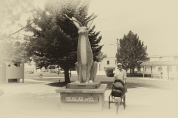 Bart and Buddy, downtown Douglas Wyoming