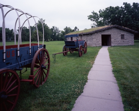Black Smith Shop at Fort Kearney, Nebraska.