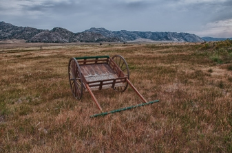 Mormon Handcart at Martin's Cove Wyoming.