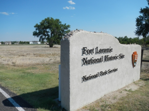 Entrance to Fort Laramie National Historic Site. Wyoming