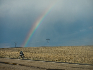 Rainbow along HW 28 nearing South Pass Wyoming.