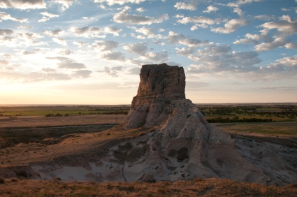 Jail Rock in morning light. Nebraska.