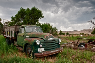 Chevy along the Oregon Trail. Nebraska.