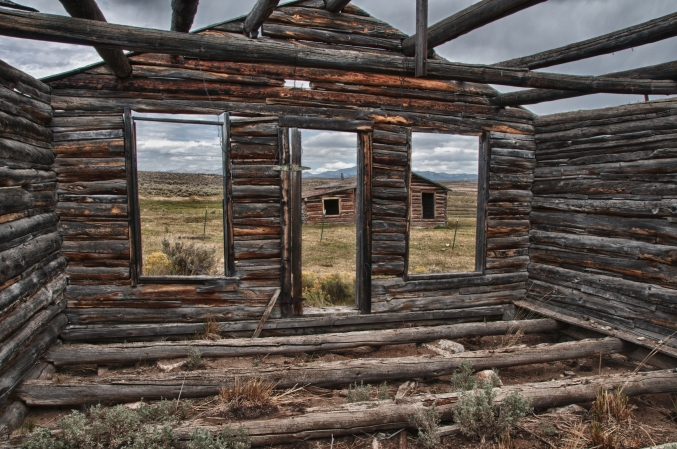 Remnants of the Ghost town of Pacific Springs, a few miles west of South Pass Wyoming.