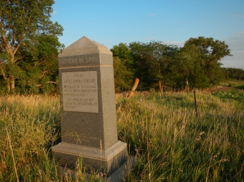 Monument to the Little Sandy Pony Express station. Nebraska.