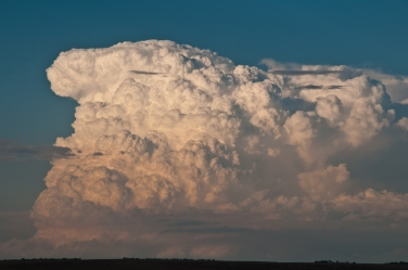 Thunder cloud along the North Platte River Valley, Nebraska.