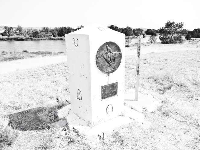 Location of A Pony Express Station at Register Cliffe near Guernsey Wyoming.