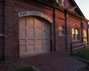 Pony Express Stables, St Joseph Missouri.
