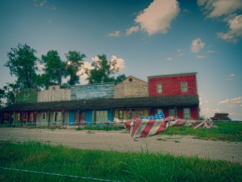 Furniture Store that has seen better times along the Pony Express a few miles into Kansas west of St Joseph MO.