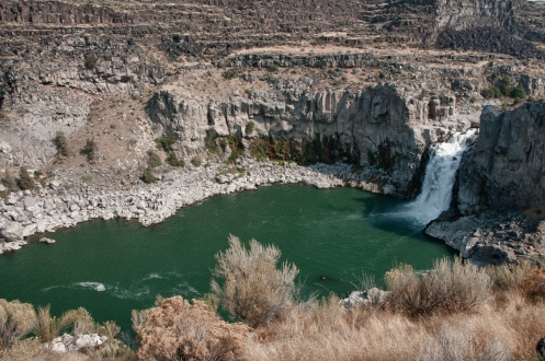 Twin falls Cataract along the Snake River.