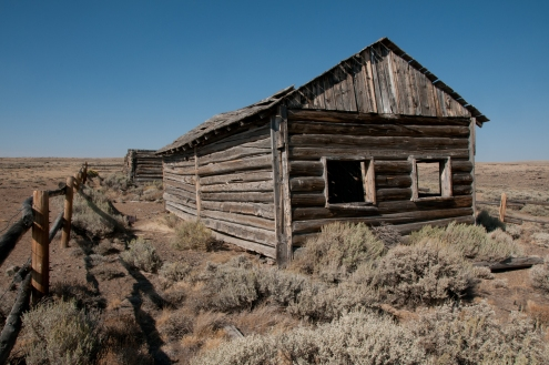 Remnants of former town of Lewiston a few miles west of Rocky ridge. Wyoming.
