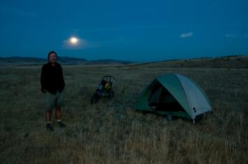 Moonrise west of Canyon Creek Station. Idaho.