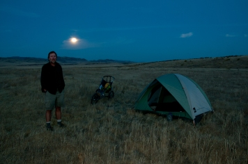 Moonrise west of Canyon Creek Station. Idaho.