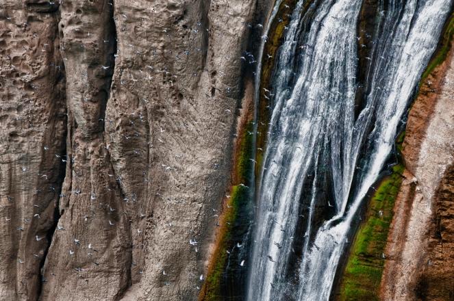 Shoshone Falls along the Snake river at Shoshone Falls State Park Idaho.