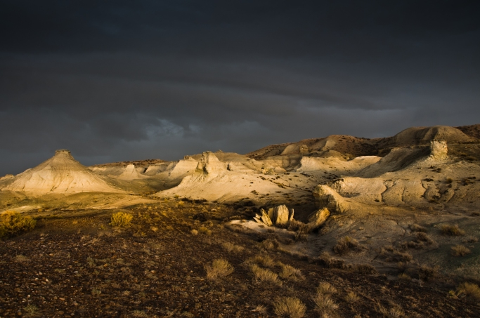 Badlands east of Granger Wyoming along the Oregon Trail