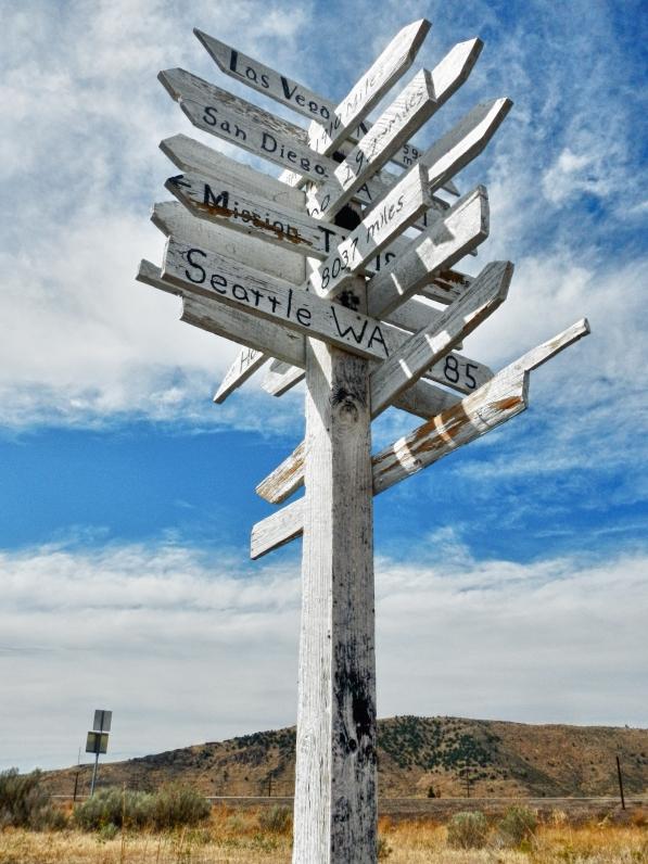 Sign along the Oregon Trail near Sheep Rock. One mile west of Soda Springs Idaho.