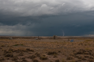 Afternoon storm along the Oregon Trail west of Granger Wyoming.