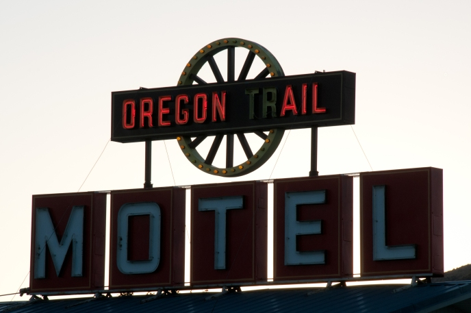 Three of my favorite things: Oregon, beer and motels. Oregon Trail Motel, Baker City, Oregon.