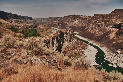 Snake River from Twin Falls overlook. idaho.