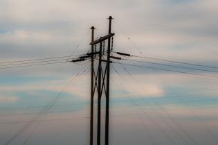 Study of power pole a few miles west of Pocatello.