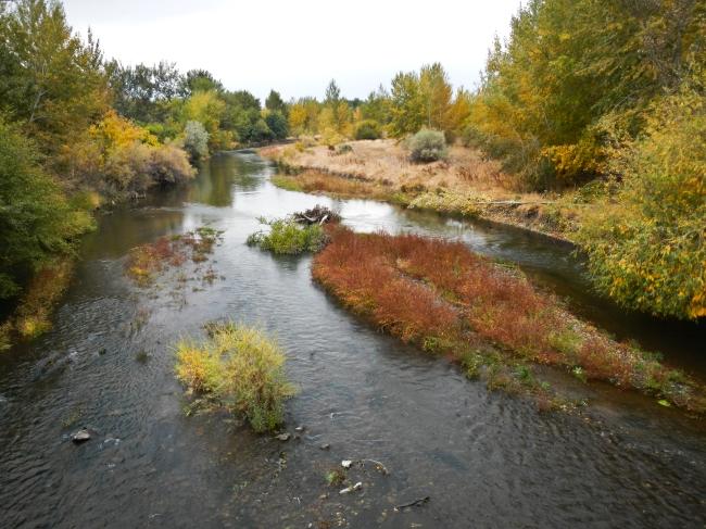 Location where the Oregon Trail crossed the Umatilla River. Echo, Oregon.