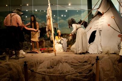 Diorama at National Historic Oregon Trail Interpretive Center.