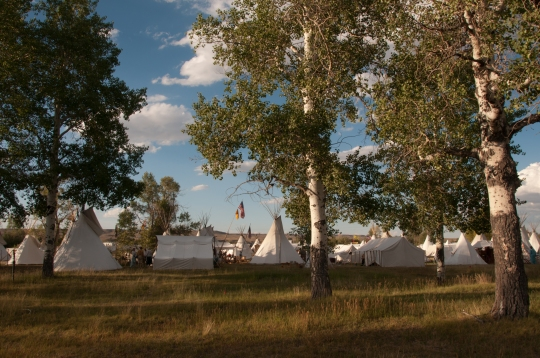 Teepees, 2012 annual Rendezvous at Fort Bridger, Wyoming.