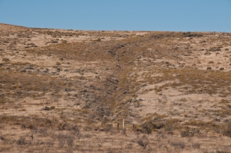 The Oregon Trail still in evidence heading out of Four Mile Canyon, Or.