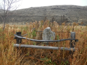 Monument at site of McDonald Ford where the Oregon Trail crossed the John Day River. Oregon.