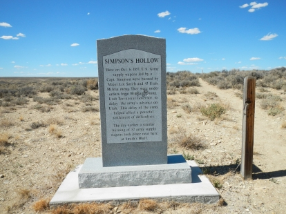 Memorial at Simpsons Hollow. West of Farson Wyoming